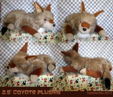 2.5 Foot Coyote Plush by GrowlyLobita