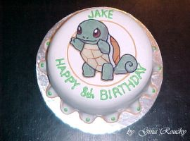 Squirtle Cake by ginas-cakes