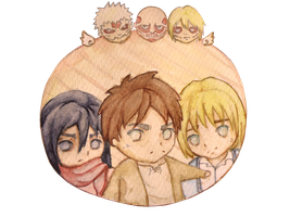 SnK Main trio *-* by om-om