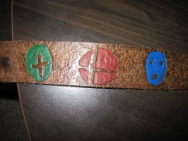 Leather Fandom Logo Belt by marauderfaze