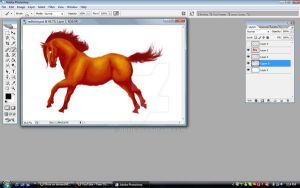 WIP Red Horse by Dhria