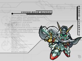Cross-Bone Gundam for Rhodium by GetterDragon