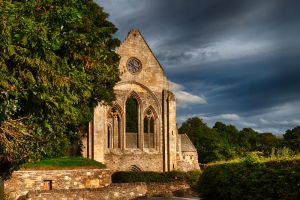 valle crucis abbey by CharmingPhotography