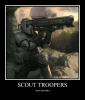 SCOUT TROOPERS by Starwarsclub123