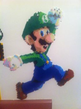 Original Luigi Perler Wall Art by Shandab