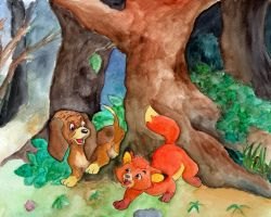 Disney - the Fox and the Hound by Jenniej92