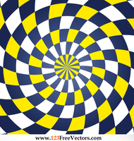 Colorful Spiral Optical Illusion Vector Free by 123freevectors