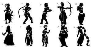 Character Silhouettes by CedricVictor
