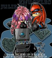 Knux and Juli Su by ryochan