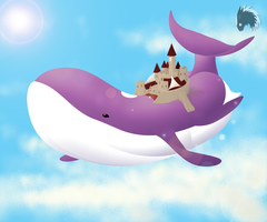 Gift Art: Lord Abelard - Skywhale Fortress by DeviBrigard