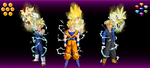 Super Saiyans and Super Hedgehogs by ClariceElizabeth