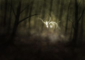Ghost in the Forest (speed paint) by CorianderCollecter