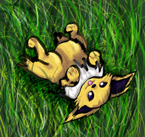 Fat Jolteon by Ferret-X