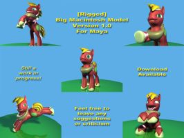 Rigged Big Macintosh Model v1 for Maya by Eben-swf