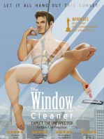 (Male Pinup) Movie Poster Series - Window Cleaner by eddiechin