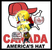 CANADA AMERICA'S HAT by melsama32
