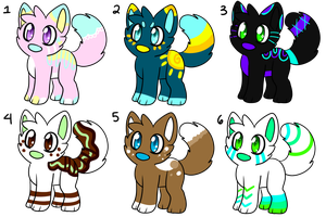 Adopt Sheet 1 1/6 LOWERED PRICES by PawsAndTurtle-Adopts