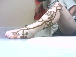 Cherry Blossom Henna Tattoo by Indrid-Spirit
