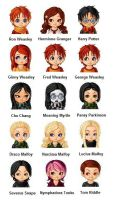 Harry Potter Chibis by 0-i-am-sam-0