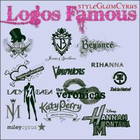 Logos Famous by StyleGlamCyrus