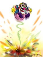 Smash-A-Day 5- Wario Blast by ronnieraccoon