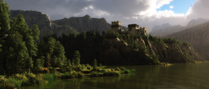 Castle on the Lake by Six-Kings