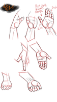 Gesture Practice : Hands Part 2 by minktee
