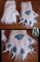 [Commission]  Hand paws for Balenty by Menevoreth