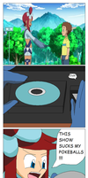 Skyla (and Elesa) Watch the Pokemon Anime... by Karasu-96