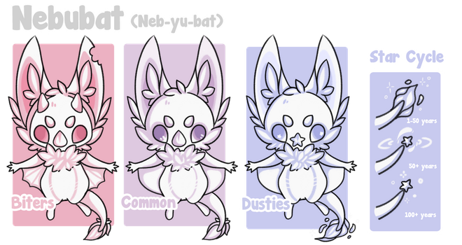 Nebubat Species Guide (WIP) by ThisLittleFennec