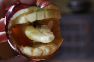 Carved Apple Number 2 by ZombieEatFlesh