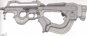 Earth SMG concept 1 by Armalite