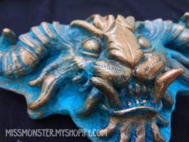 Demon Buckle patina copper by missmonster