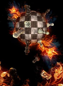 Chess titans in flames by ioinme