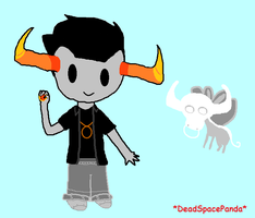 Tavros and Lusus by DeadSpacePanda