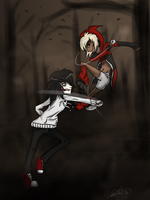 Jester vs Jeff .:Commission for marocreeps:. by M1SS-NOTH1NG