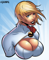 Power Girl Bust by LazerBat