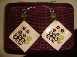 Sushi Plate Earrings by KittyAzura