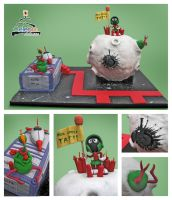 Marvin Martian Cake by The-Nonexistent