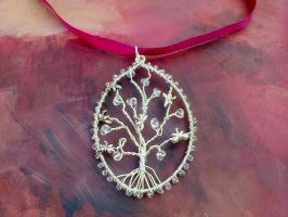 Silver tree dragonfly pendant by Mirtus63