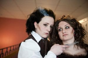 Sweeney Todd and Mrs. Lovett by Smuffs