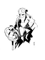 HellBoy and the Skull by TheBoo