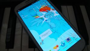 Rainbow Dash Brakes Samsung Galaxy SIII Screen by toyotajzx90