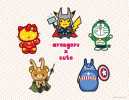 Cutie Avengers by thoughtshower