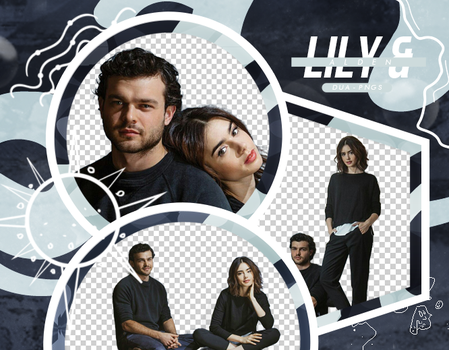 PACK PNG 187 // LILY COLLINS AND ALDEN EHRENRICH by DUA-PNGS