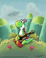 the melody of Yoshi's Island by MissNeens
