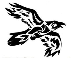 Tribal Flying Crow - Commision by wolfsouled