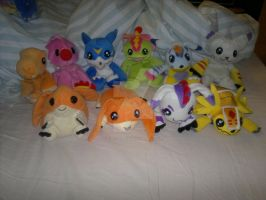 My Digimon bean bag collection update by aishiteru420