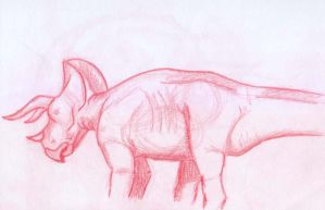 Triceratops sketch -2 by BAC-of-all-trades