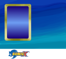 Sonic X Card Template + notice by vgfm
